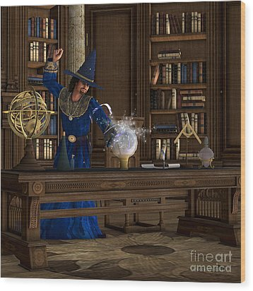 Magician Wood Print by Corey Ford