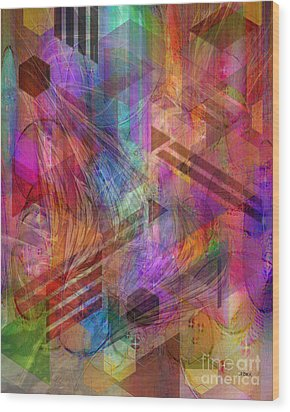 Magnetic Abstraction Wood Print by John Beck