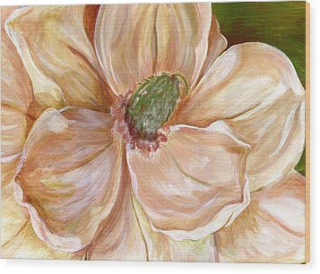 Magnificent Magnolia -1 Wood Print by Sheron Petrie