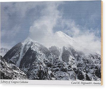 Magnificent Mountains In Telluride In Colorado Wood Print by Carol M Highsmith