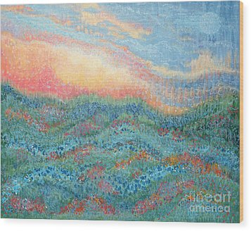 Magnificent Sunset Wood Print by Holly Carmichael