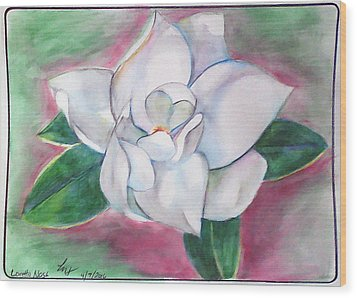 Magnolia 2 Wood Print by Loretta Nash