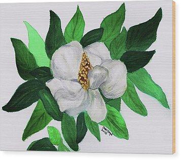 Magnolia I Wood Print by Joan Zepf