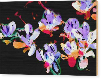 Magnolia Impressions Wood Print by Linda  Parker