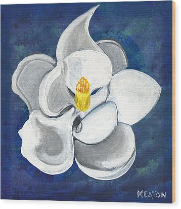 Wood Print featuring the painting Magnolia by John Keaton