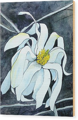 Wood Print featuring the painting Magnolia by Lynn Babineau