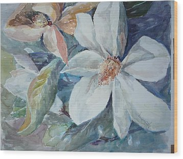 Magnolia Magic Wood Print by Dorothy Herron
