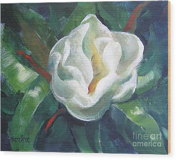 Magnolia Wood Print by Marta Styk