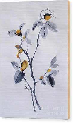 Magnolia Wood Print by Sibby S