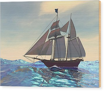 Maiden Voyage Wood Print by Corey Ford