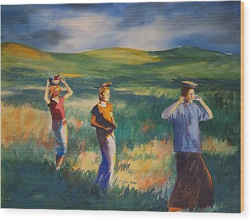 Maidens Three Wood Print by Becky Chappell