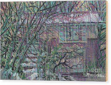 Maier House Wood Print by Donald Maier