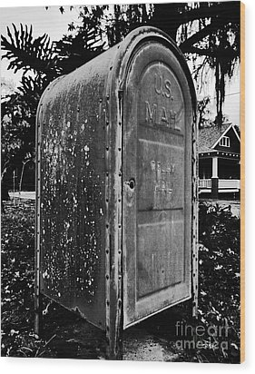 Mail Box Wood Print by David Lee Thompson