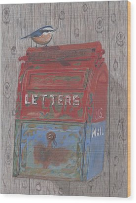 Mail Call Wood Print by Arlene Crafton