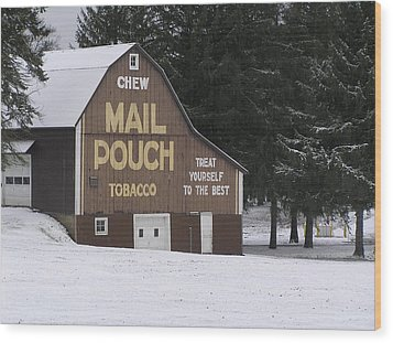 Mail Pouch Barn Wood Print by Jeanette Oberholtzer