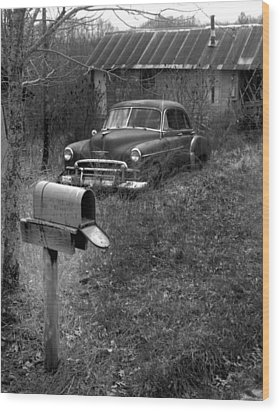 Wood Print featuring the photograph Mailboxcar by Curtis J Neeley Jr