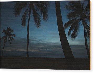Ma'ili Beach After Sunset Wood Print
