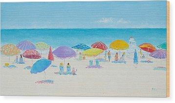 Main Beach East Hampton  Wood Print by Jan Matson