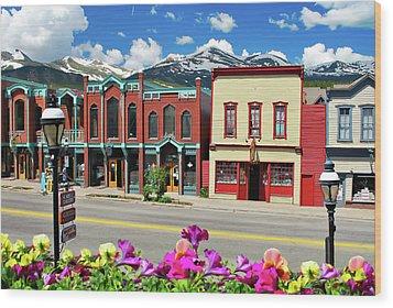 Main Street - Breckenridge Colorado Wood Print by Gregory Ballos