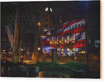 Main Street Station At Night Wood Print