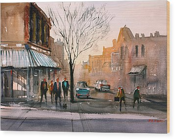 Main Street - Steven's Point Wood Print