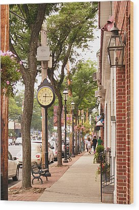 Main Street Usa Wood Print