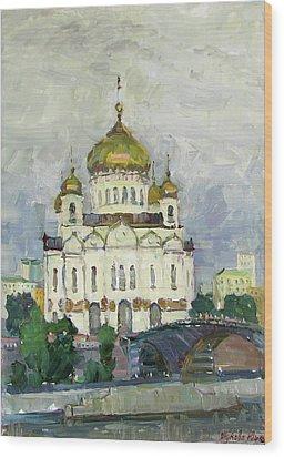 Main Temple Of Russia Wood Print by Juliya Zhukova