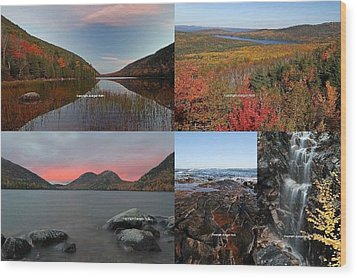 Maine Acadia National Park Landscape Photography Wood Print by Juergen Roth