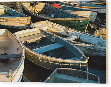 Wood Print featuring the photograph Maine Boats At Sunset by Ranjay Mitra
