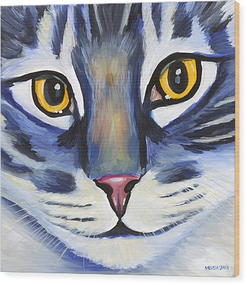 Maine Coon Wood Print by Melissa Smith