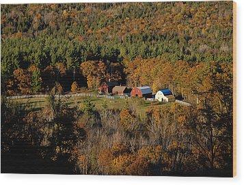 Maine Fall Colors Wood Print