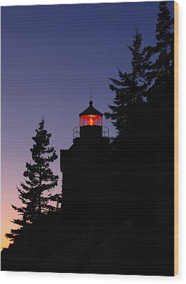 Maine Lighthouse Wood Print by Juergen Roth
