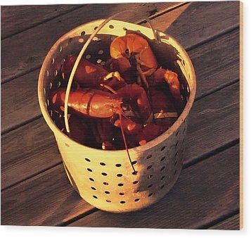 Maine Lobsters Wood Print