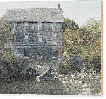 Maine Mill Wood Print