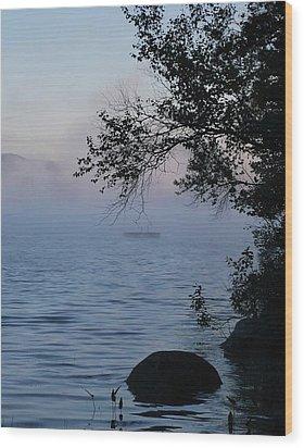 Maine Mist Wood Print