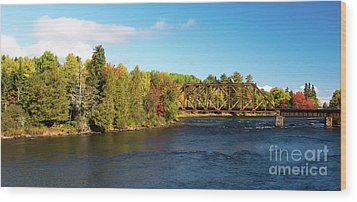 Maine Rail Line Wood Print