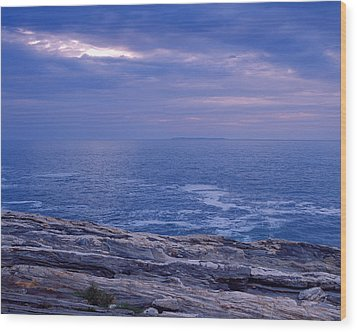 Maine Seascape Wood Print