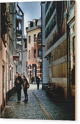 Wood Print featuring the photograph Mainz Badergasse by Jim Hill