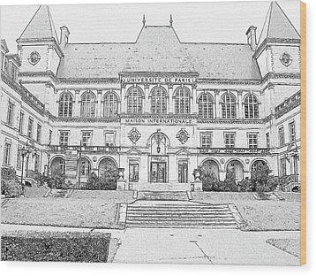 Maison Internationale Paris Wood Print by Subesh Gupta