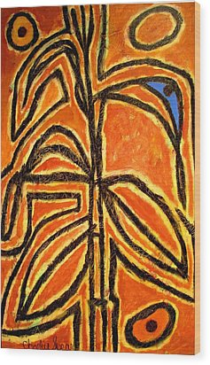 Maizemother Wood Print by Charlie Spear
