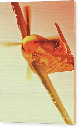 Maj. Chuck Cummins And Chuck Greenhill's P-51d Mustang Geraldine Wood Print by Gus McCrea