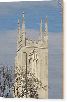 Majectic Steeple Wood Print by Martha Hoskins