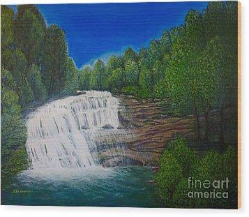 Majestic Bald River Falls Of Appalachia II Wood Print by Kimberlee Baxter
