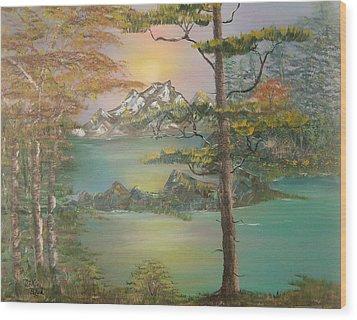 Majestic Cove Wood Print by Mikki Alhart