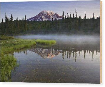 Majestic Dawn Wood Print by Mike  Dawson