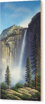 Majestic Falls Wood Print by Frank Wilson