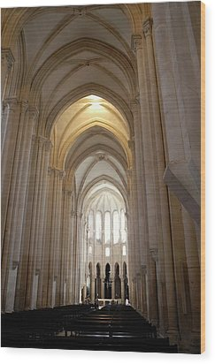 Majestic Gothic Cathedral In Portugal Wood Print by Kirsten Giving
