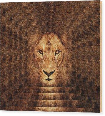 Majestic Lion Wood Print