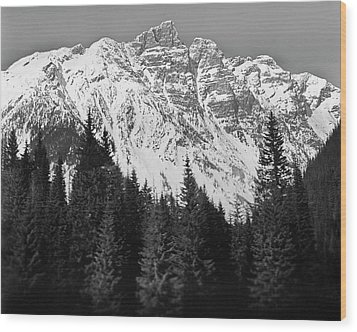 Majestic Mountains, British Columbia, Canada Wood Print by Brian Caissie