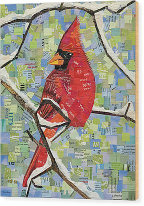 Majestic Red Cardinal  Wood Print